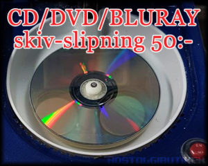 cd/dvd/bluray skivslipning